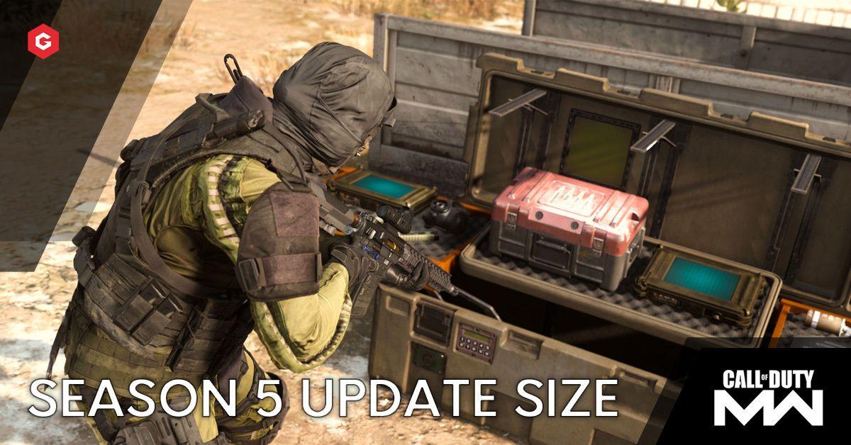 Warzone Modern Warfare Season 5 Update Size Is So Big A Pre