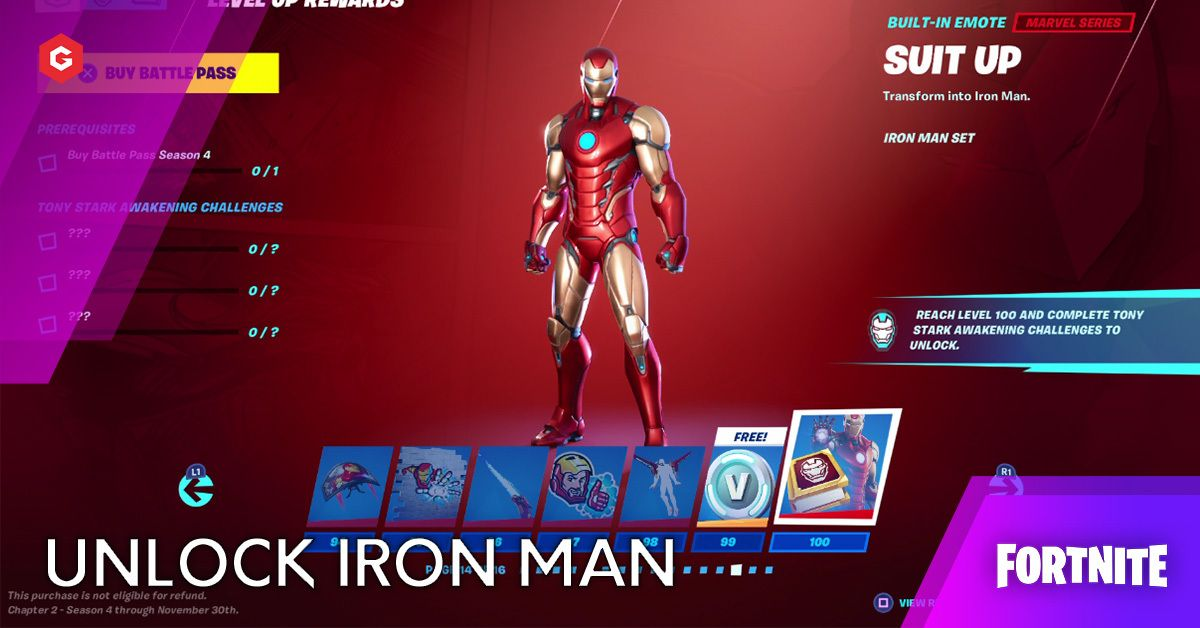 Fortnite Chapter 2 Season 4 How To Unlock Tony Stark And Iron Man Suit Up Emote Fortnite update 14.50 to add the iron man jetpack (image: how to unlock tony stark and iron man
