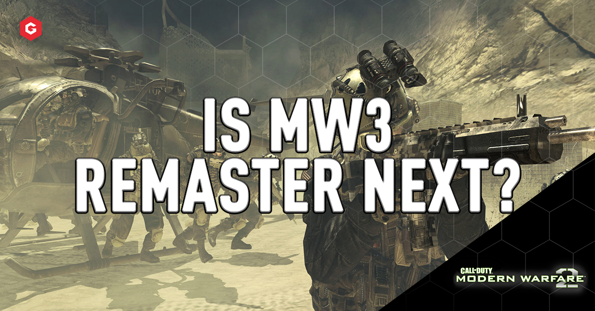 Mw2 Campaign Remastered Could Call Of Duty Modern Warfare 3 Be Next