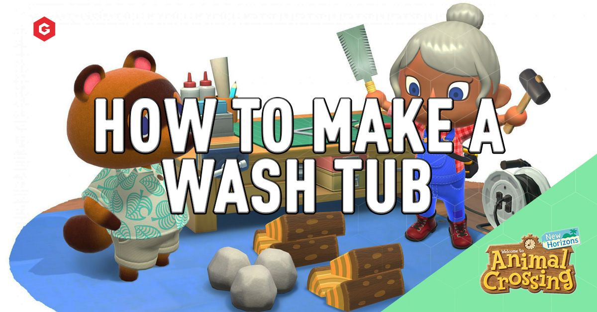 Animal Crossing New Horizons How To Make A Wooden Washtub