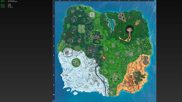 Fortnite original map found in the game files. Image courtesy of LunakisLeaks.