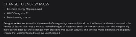 Apex Legends Energy Mags Removed Reddit
