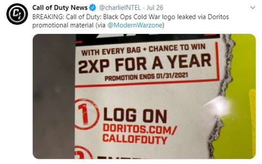 Black Ops Cold War Leaks Doritos Leaks Title Logo And Release