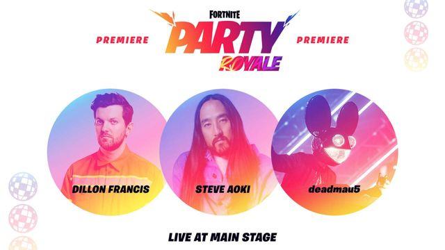 Fortnite Party Royale has an all-star host of DJs playing live.