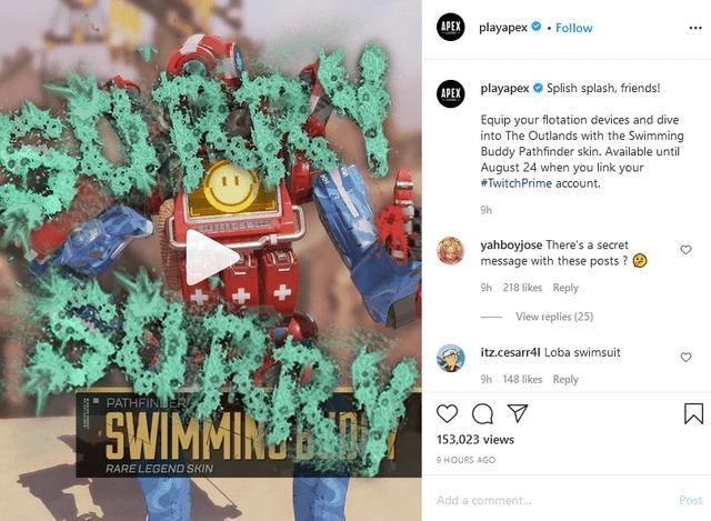 Apex Legends Season 6 Rampart teasers on Instagram
