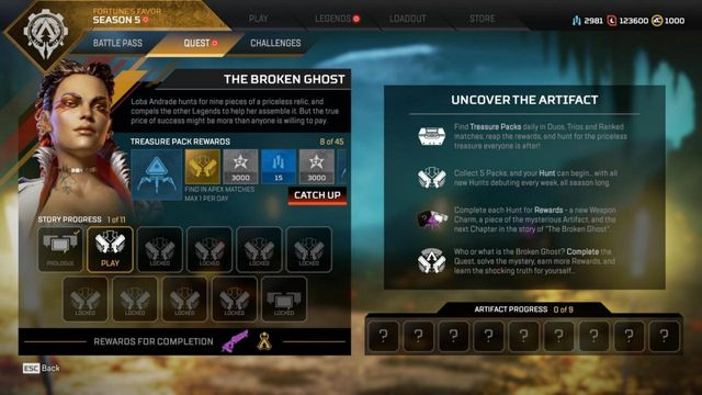 Apex Legends Season 5: Fortune's Favor Season Quest The Broken Ghost