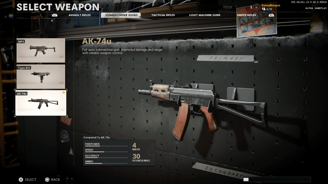 Black Ops Cold War AK74u