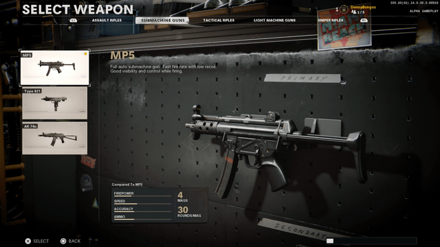 Black Ops Cold War MP5