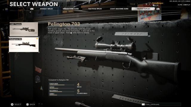Black Ops Cold War Pelington 703