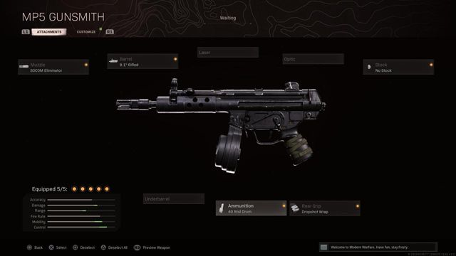 MP5 Black Ops Cold War Warzone Best Attachments
