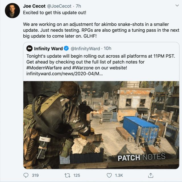 Expect plenty more tweaks to Warzone
