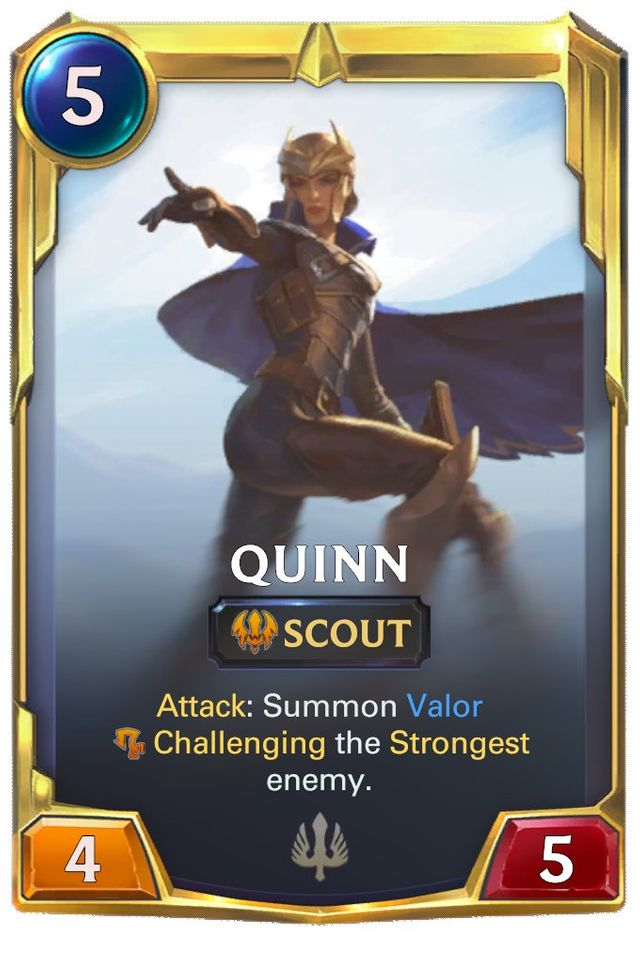 Quinn's levelled up card