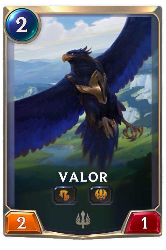 Valor's card
