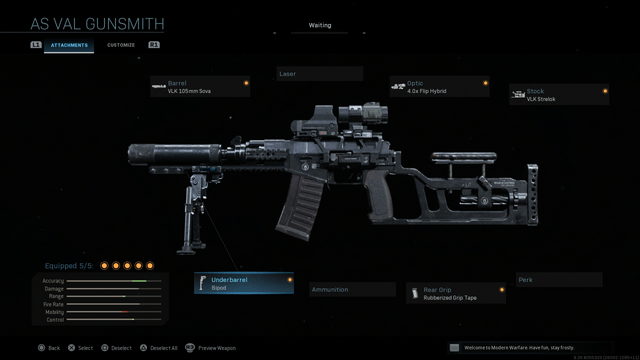 AS VAL best loadout