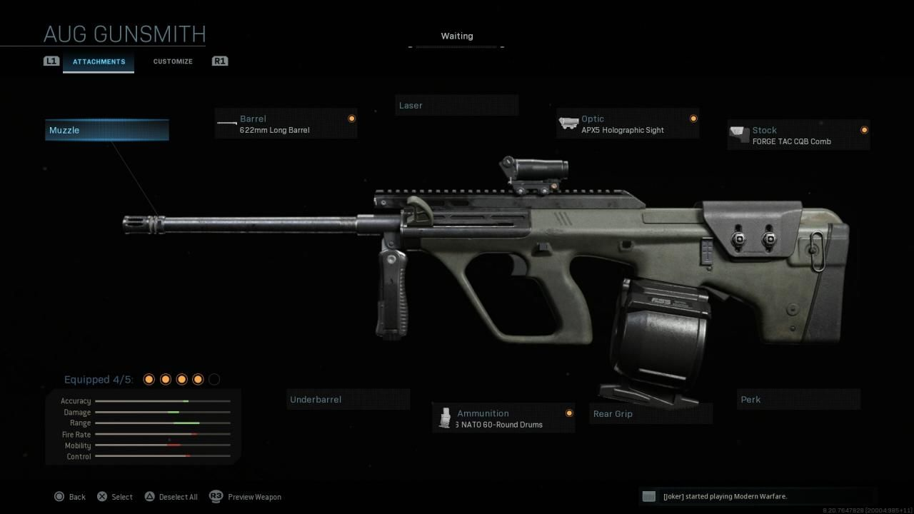 Modern Warfare AUG HBAR