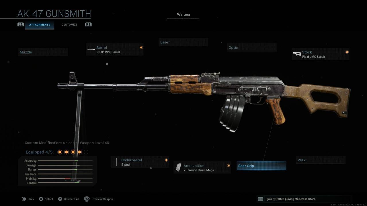 Modern Warfare RPK