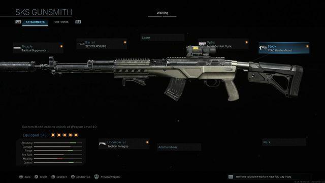 Modern Warfare SKS loadout guide