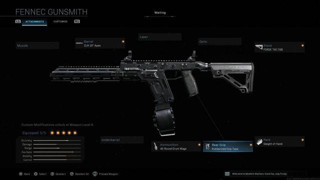 Fennec Modern Warfare best class guide