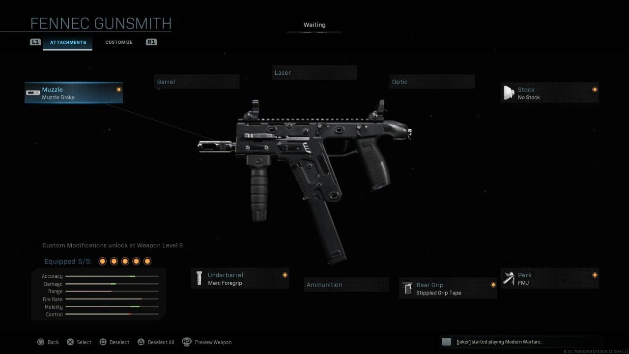 Fennec Modern Warfare best attachments guide