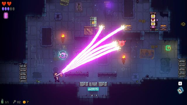 The game's dim environments bring out the colour in weapons and items