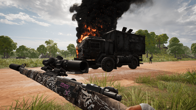 Julie's Kar98 looks to have done a number on this Loot Truck.