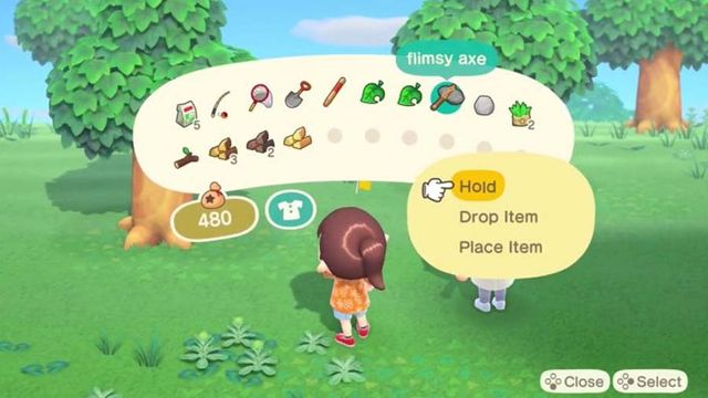 animal crossing new horizons inventory
