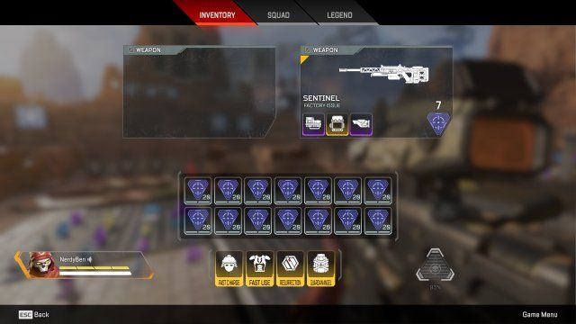 sentinel gameplay apex legends