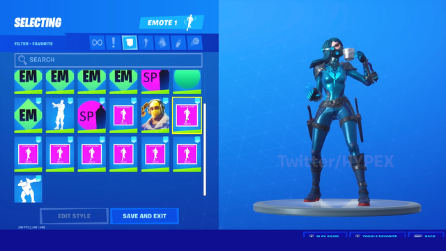 Fortnite leaked emotes. Image courtesy of HYPEX.