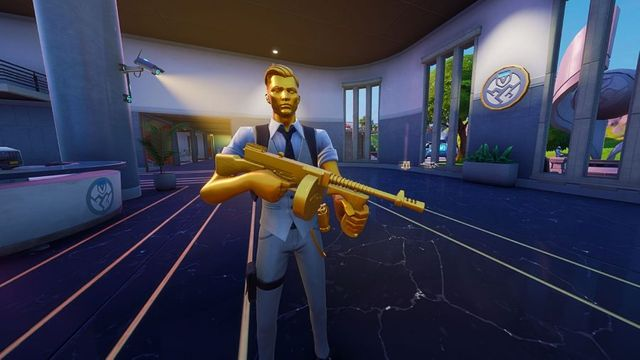 Fortnite Chapter 2 Season 2 NPC boss Midas is located in The Agency. Image courtesy of PCGamesN.