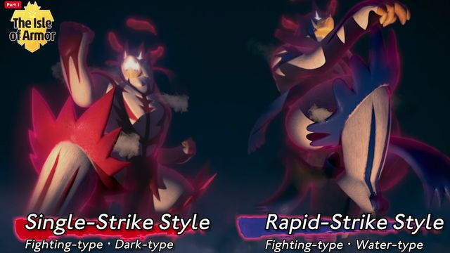 Urshifu single strike and rapid strike style