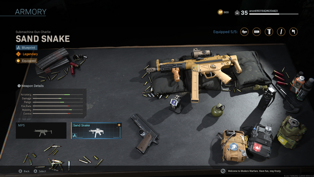 This SMG has a scope and other attachments
