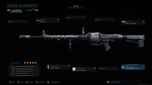 Modern Warfare MG34 Weapon