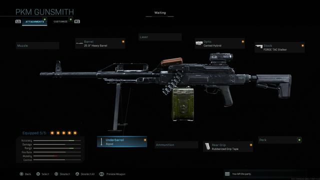 Modern Warfare PKM Weapon