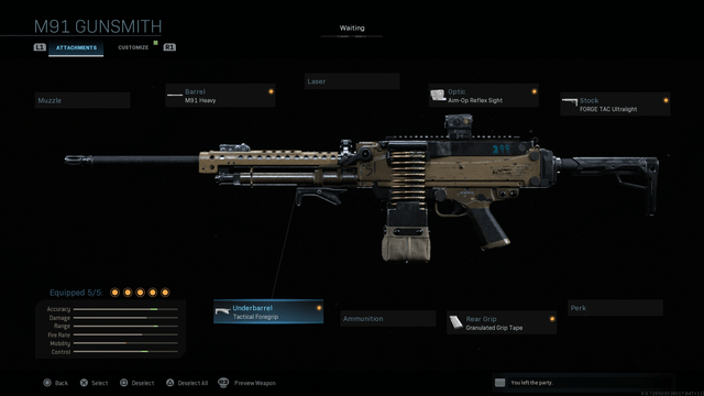 Modern Warfare M91 Weapon