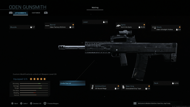 Call Of Duty Warzone Oden Loadout Setup And Attachments Guide For The Modern Warfare Battle Royale