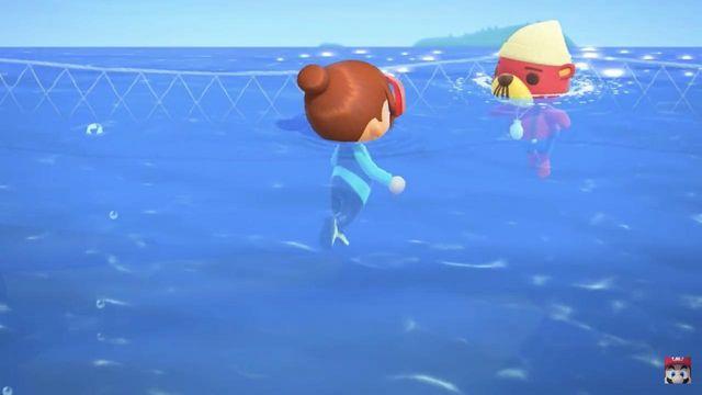 Diving Animal Crossing